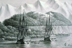 Frégates_Astrolabe_et_Boussole_vers_1786_pendant_l'expedition_La_Perouse